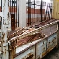 8 ton drop side loading bin