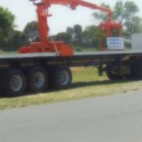 Scania 480 for Sale + La Mon Trailor and brick Crane for sale