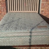 Brand new headboard with second hand double bed