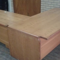 Office desk, cabinet and chair for sale