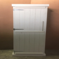 Kitchen Cupboard Farmhouse series Free standing 2100 with 1 door - White washed