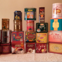 182 Tins for sale