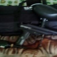 paintball gun with bag