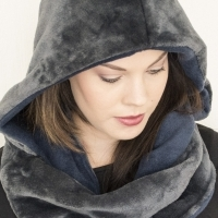 Hooded Scarf- Great for early Mornings or Evenings.