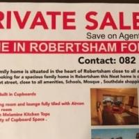 Modern home in Robertsham for sale