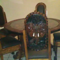 Hand crafted dining room set