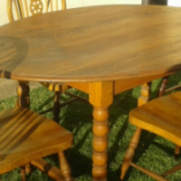 Antique Solid Oak Table and Chairs