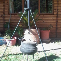 Poitjie Pot Tripod, Fully Adjustable, No More Burning Hands, Latest Craze!