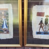 Egiptian Float Pipirus Paintings for sale