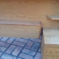 Single bed headboards solid oak R900 for both or R450 each