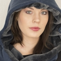 A snug and very warm hooded scaf, great for those cold nights out!
