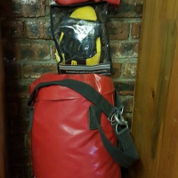 Boxing bag met gloves