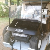Golf cart on trailer,fully refurbished in excellent condition