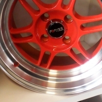 """Enkei Orange 4/100 pcd 15"""" new wheels arrived at Kustom Kings only R4000!"""