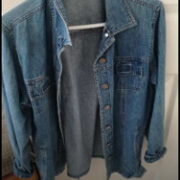 medium length denim jacket