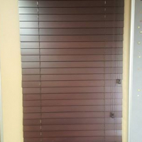Aluminium Frame with glass door, three glass panels and three bamboo blinds for sale