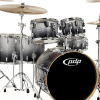 PDP Concept Maple 6pc Kit Including Hardware Silver To Black Fade
