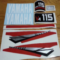 Yamaha V4 115HP motor cowl decals stickers graphics kits