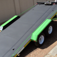 O.  ROLL BACK CAR TRAILER - SOLID FLOOR.