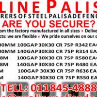 Steel palisade fencing supplied to Pretoria.