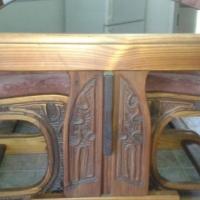 Netjiese opgepaste 6 Sitplek Origan Pine Eetkamer stel
