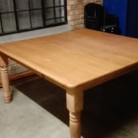 Solid wooden dining table.8 Seater.
