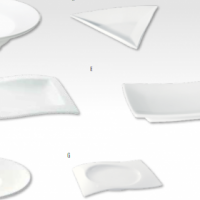 ACCENTS RANGE-LARGE SALAD/SOUP BOWL-TRIANGULAR PLATE-SQUARE PLATE-WAVE RIM RECT PLATE