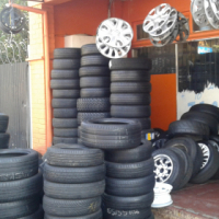 Used / secondhand tyres and New all sizes, Rims,