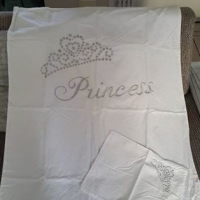 Princess cot duvet cover and pillow case