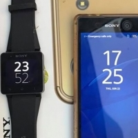 sony xperia M5 with matching sony smart watch 2