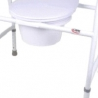 STEEL NON FOLDING COMMODE