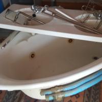 Spa Bath, motor and Double Vanity Top