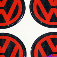 Gel Mag Vw Red Decal
