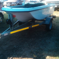 Bass boat 5hp merc and troll motor