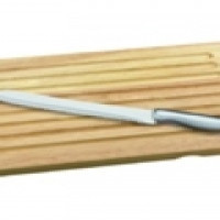 Wood bread board with Stainless steel bread knife!! On Promotion!!!