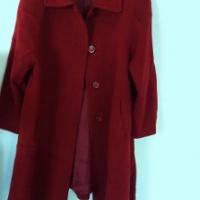 A Burgundy Morando Genova, coat.