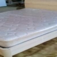 Queen size Base and mattress,  Beechwood finish