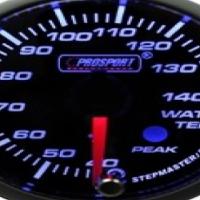 Prosport 52mm Analogue Water Temperature Gauge with Peak Recall