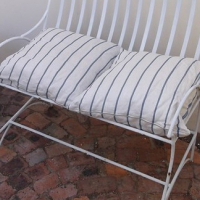 Wrought iron 2 seater couch for sale - fairly good condition