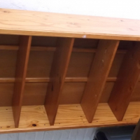 STAINED PINE BOOKSHELF IN EXCELLENT CONDITION