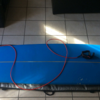 """Safari Spider 9"""" Foot Long Board with fin and bag and leash"""
