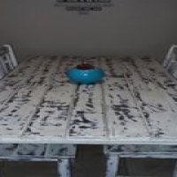 Whitewashed Dinning Room Table