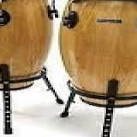 Conga drums on stands