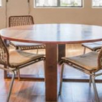 8 Seater Chestnut Dining Room table and chairs