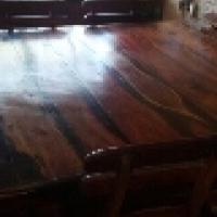 Railway sleeper diningroom set