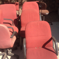 Assorted used office chairs
