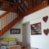Duplex with lovely loft and garden with braai patio