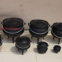 BLACK CAST IRON POTJIE POTS from R120.00 each
