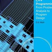 C++ Programming - From Problem Analysis to Program Design