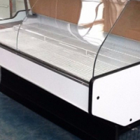 Econo Curved Glass Meat Display Fridges For Sale